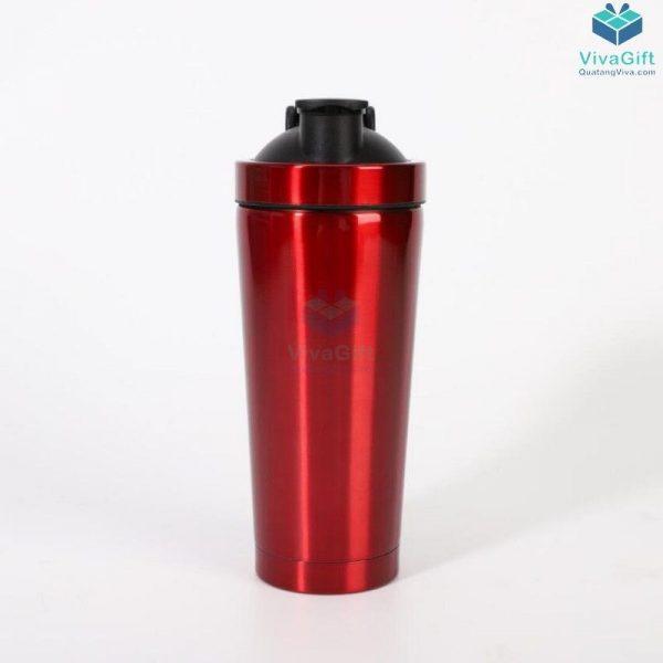 Bình lắc Shaker tập Gym 750ml inox 304 cao cấp Q250 khắc tên theo yêu cầu