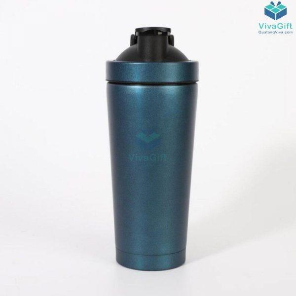 Bình lắc Shaker tập Gym 750ml inox 304 cao cấp Q250 khắc tên làm quà tặng