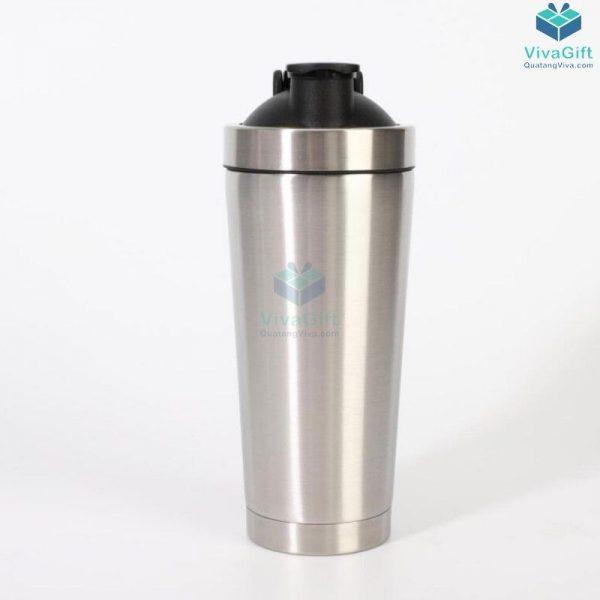 Bình lắc Shaker tập Gym 750ml inox 304 cao cấp Q250 khắc theo yêu cầu