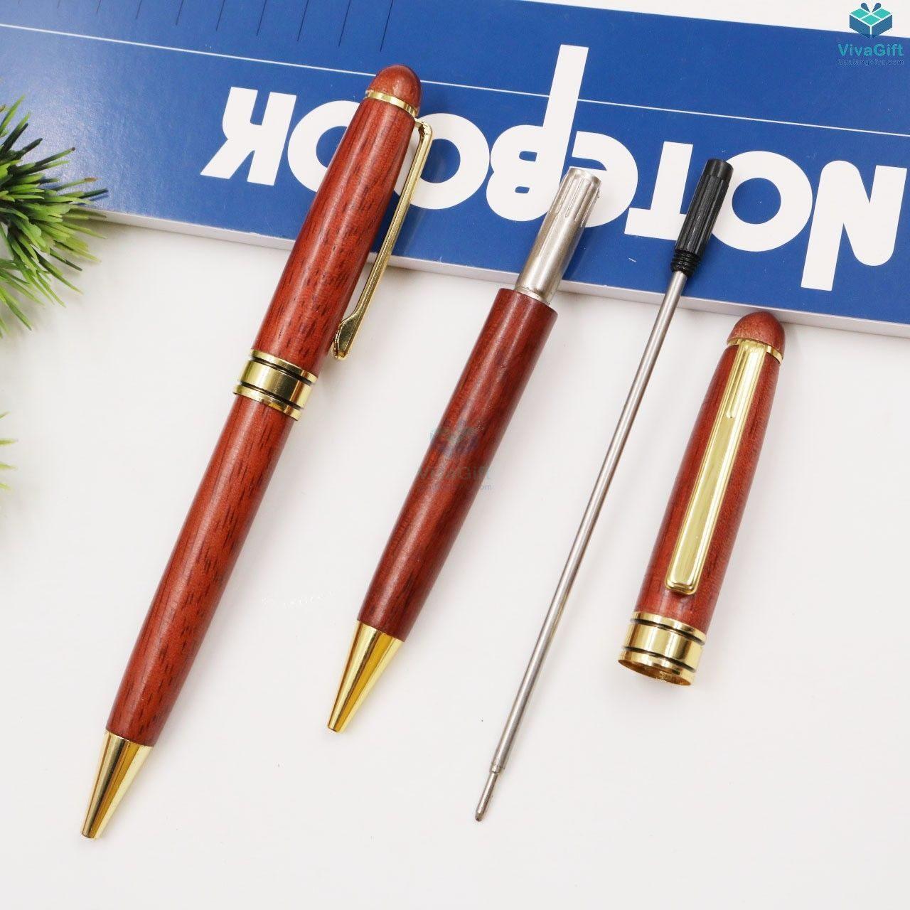 Bút gỗ khắc tên V011 làm quà tặng