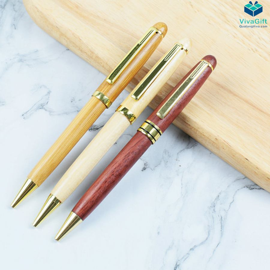 Bút bi gỗ khắc tên V011 làm quà tặng