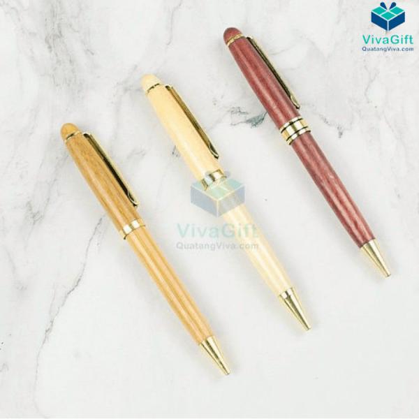 Bút gỗ quà tặng V011