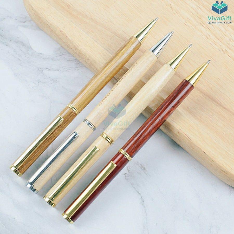Bút gỗ khắc tên V012 làm quà tặng