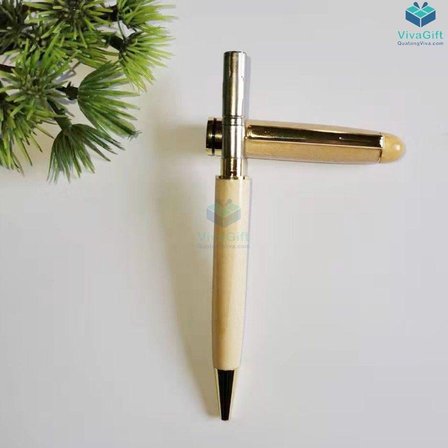 Bút gỗ khắc tên V014 khắc theo yêu cầu làm quà tặng