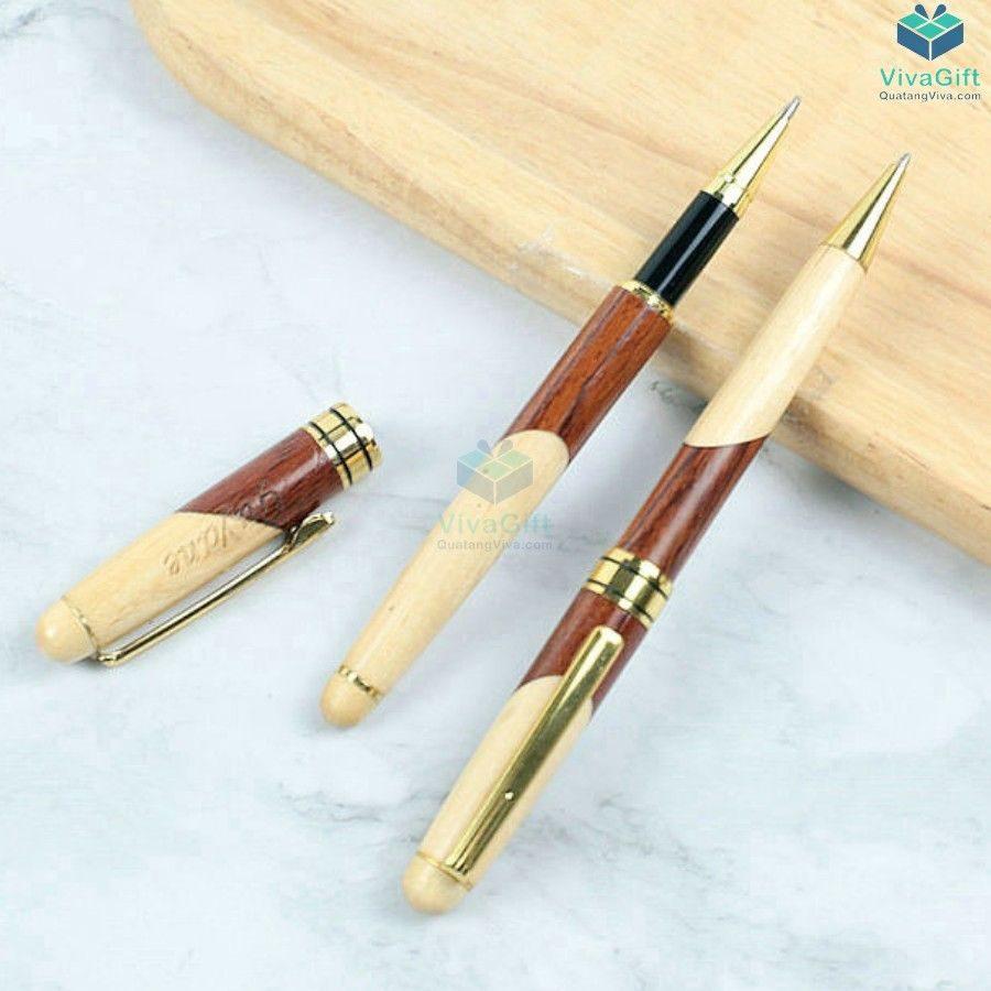 Bút gỗ khắc tên V013 khắc làm quà tặng