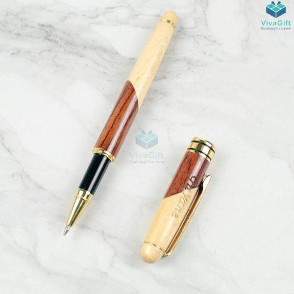 Bút gỗ khắc tên V013 làm quà tặng