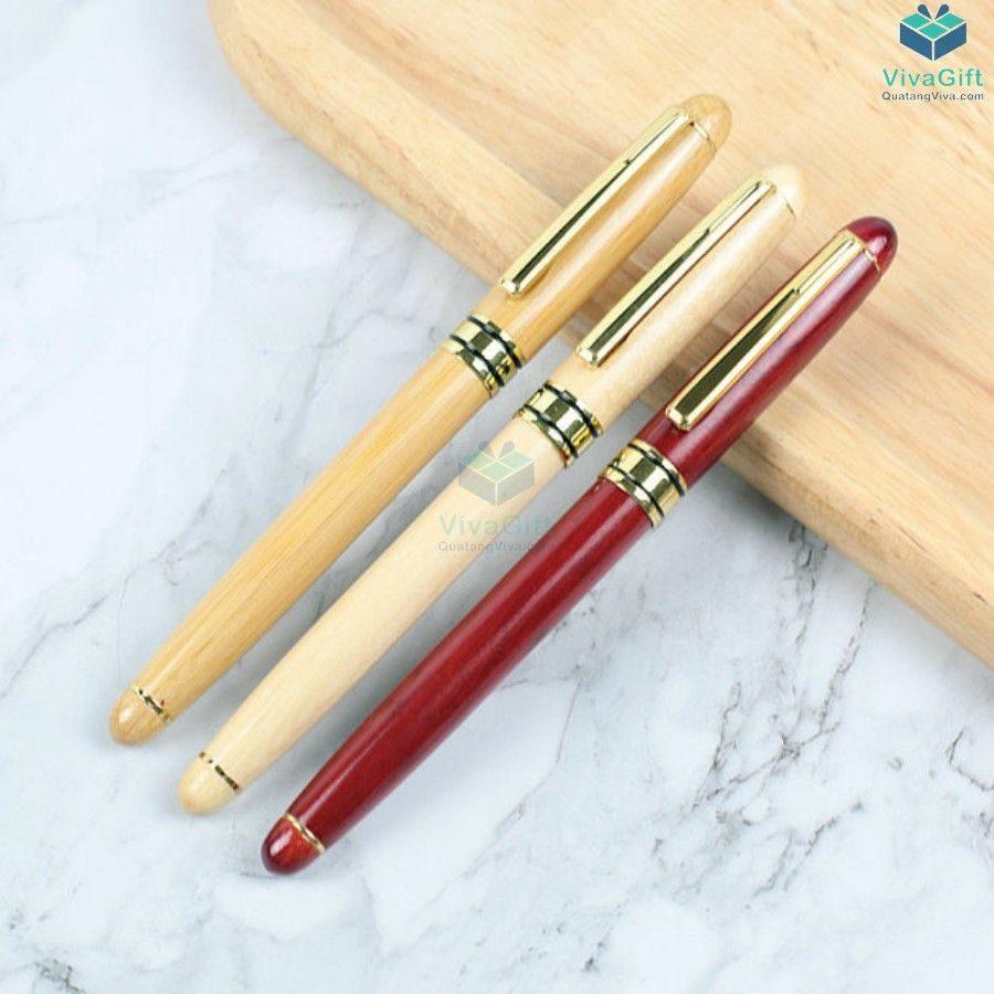 Bút gỗ khắc tên V015 làm quà tặng