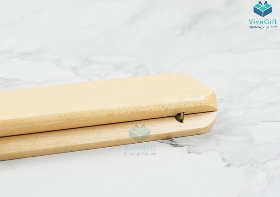 hộp bút gỗ quà tặng HV01 khắc logo công ty