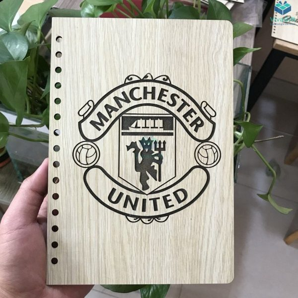 Sổ tay bìa gỗ khắc chữ theo yêu cầu
