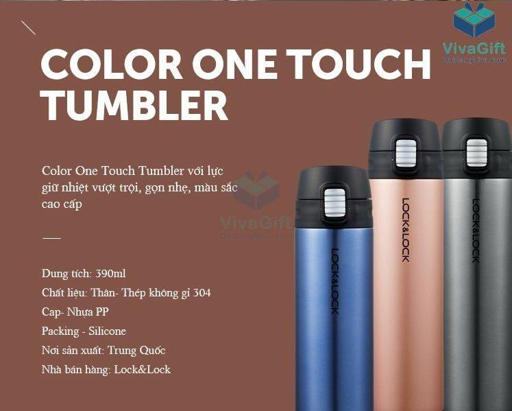 Bình Giữ Nhiệt Lock&Lock Colorful Tumbler Funcolor LHC3222 khắc tên theo yêu cầu làm quà tặng