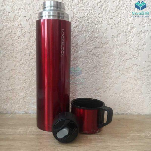 Bình giữ nhiệt Lock&Lock Mocha Vacuun 750ml khắc tên làm quà tặng doanh nghiệp