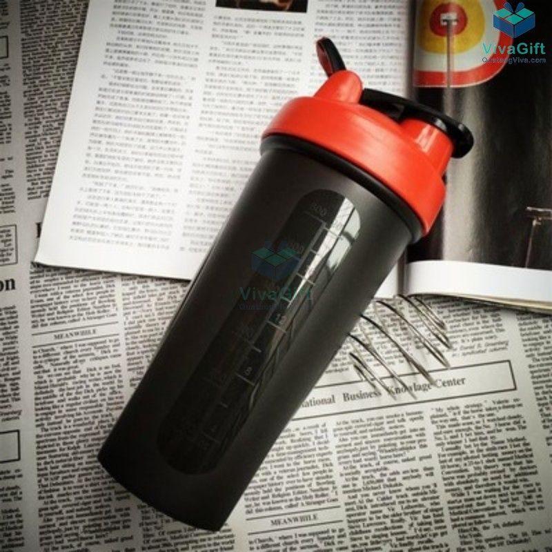 Bình Lắc Shaker Tập Gym 700ml Q256 khắc tên làm quà tặng