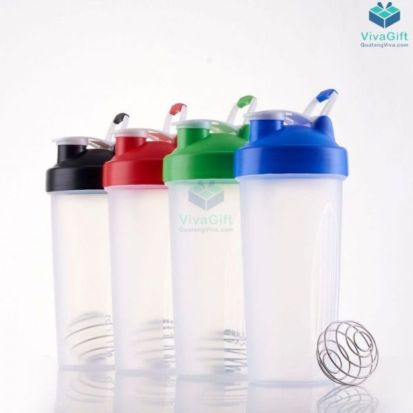 Bình Lắc Shaker Tập Gym 700ml Q256 in logo làm quà tặng
