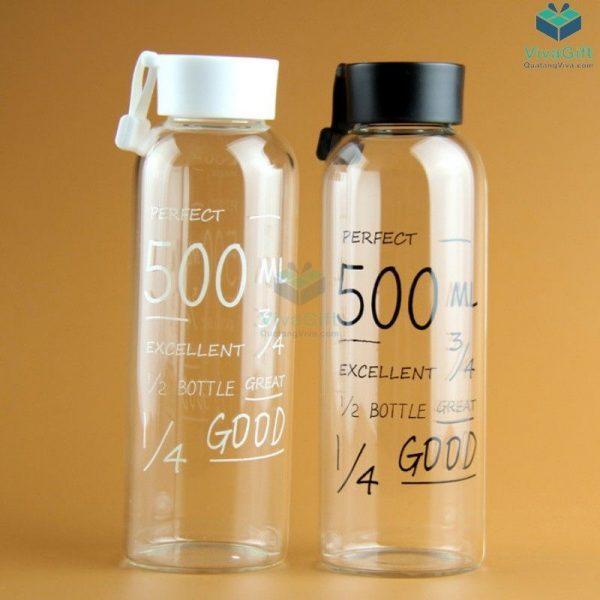 Bình nước nhựa 500ml có quai Q011 khắc tên theo yêu cầu