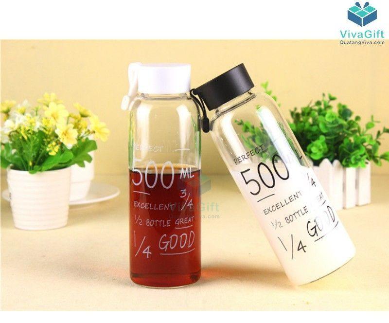 Bình nước nhựa 500ml có quai Q011