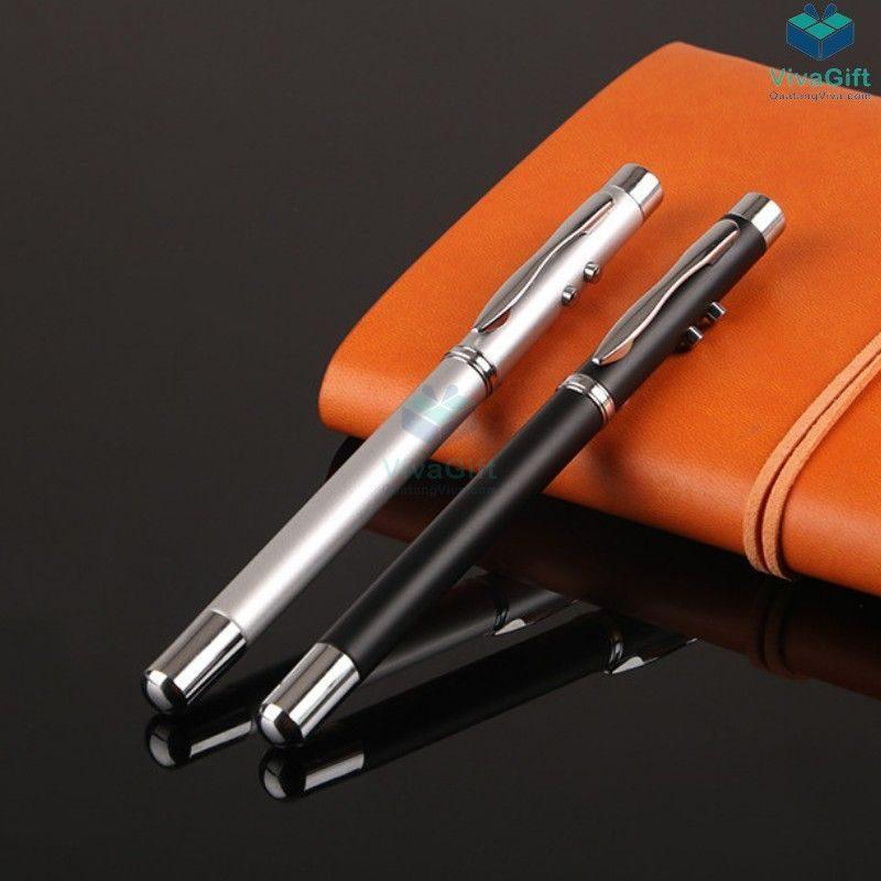 bút con trỏ laser 4 trong 1 đèn led V024 làm quà tặng