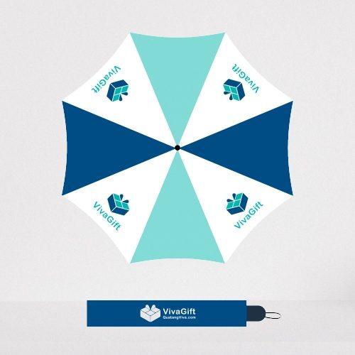 Ô Dù Cầm Tay Gấp 2 Tự Động 1 Chiều In Logo Quà Tặng D010