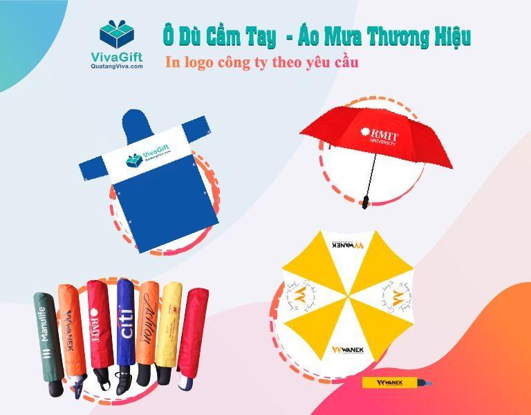 ô dù cầm tay in logo