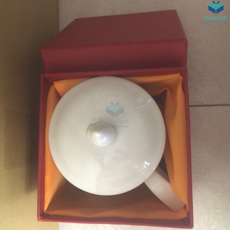 cốc sứ có nắp đậy ls102 quà tặng doanh nghiệp