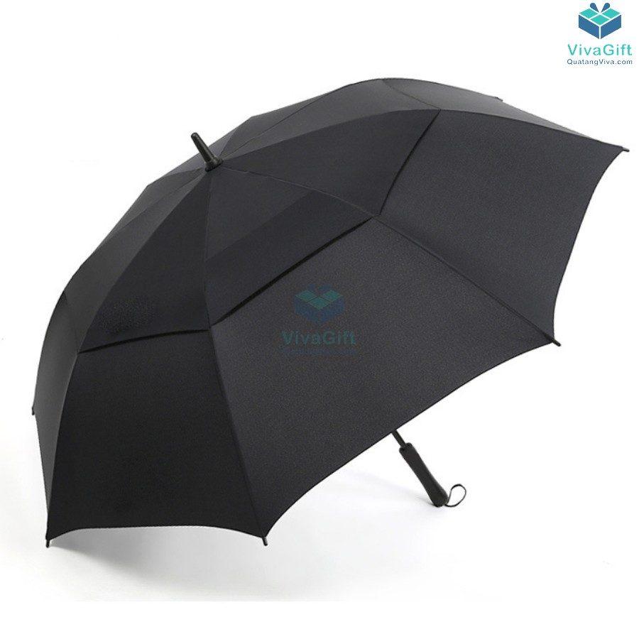 ô dù cầm tay cán thẳng 2 tầng in logo công ty