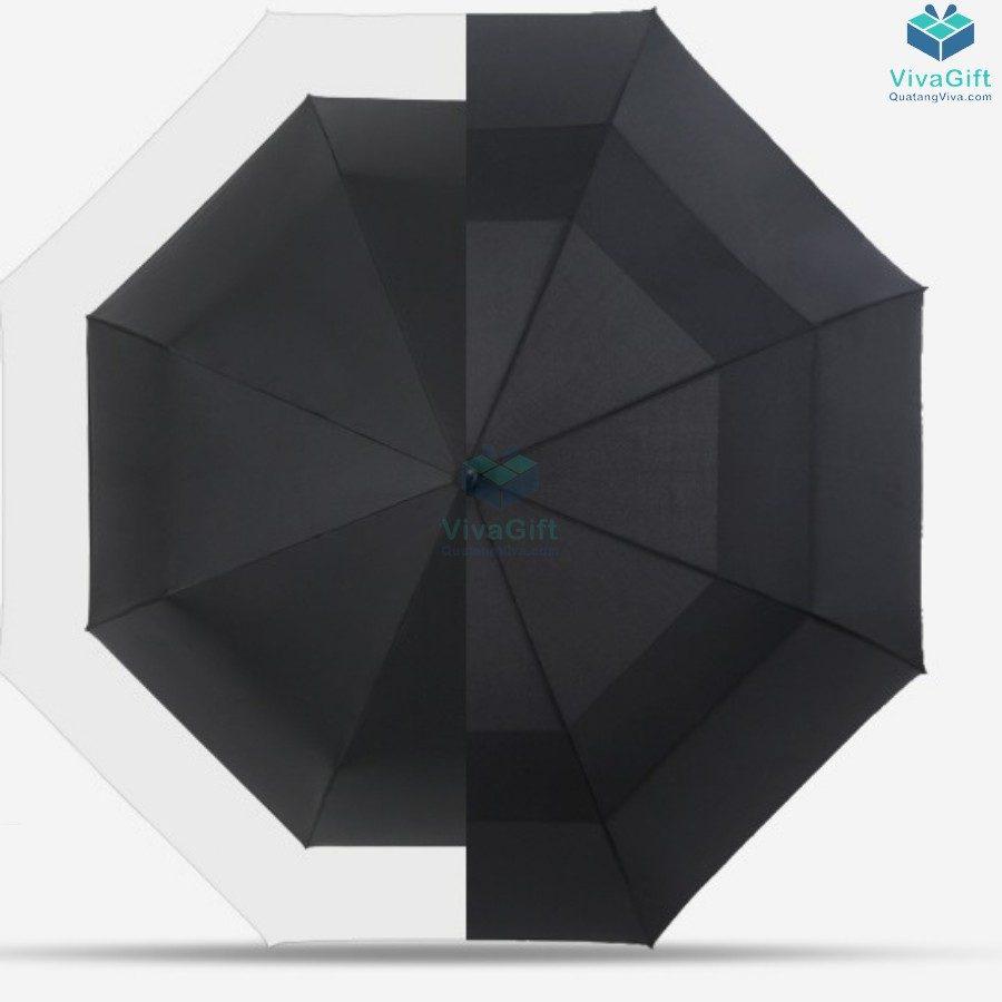 ô dù cầm tay cán thẳng 2 tầng in logo công ty làm quà tặng