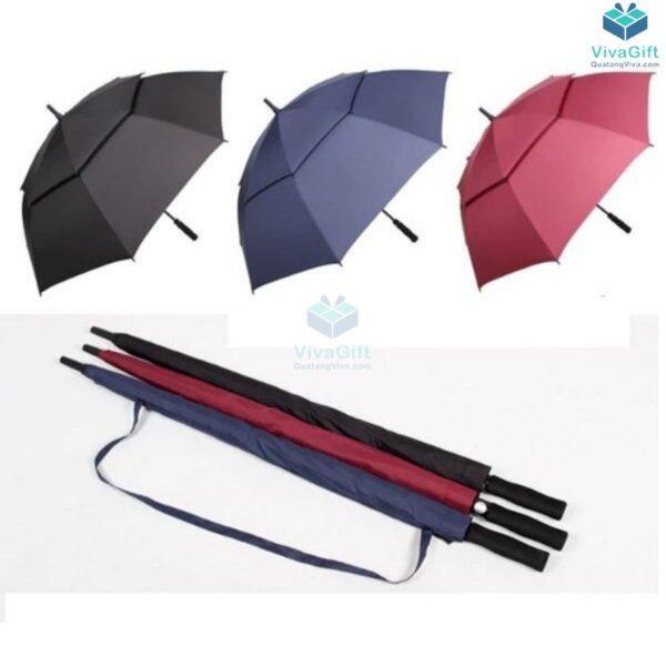 ô dù cầm tay cán dài 2 tầng in logo công ty