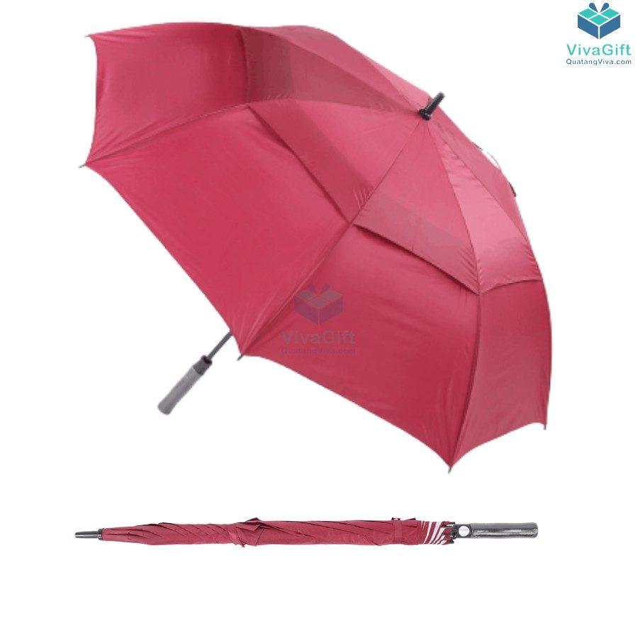 ô dù cầm tay cán thẳng 2 tầng bán kính 75cm d029 in logo theo yêu cầu