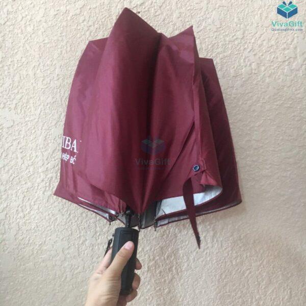 ô dù cầm tay gấp 2 tự động 1 chiều D019 in logo công ty