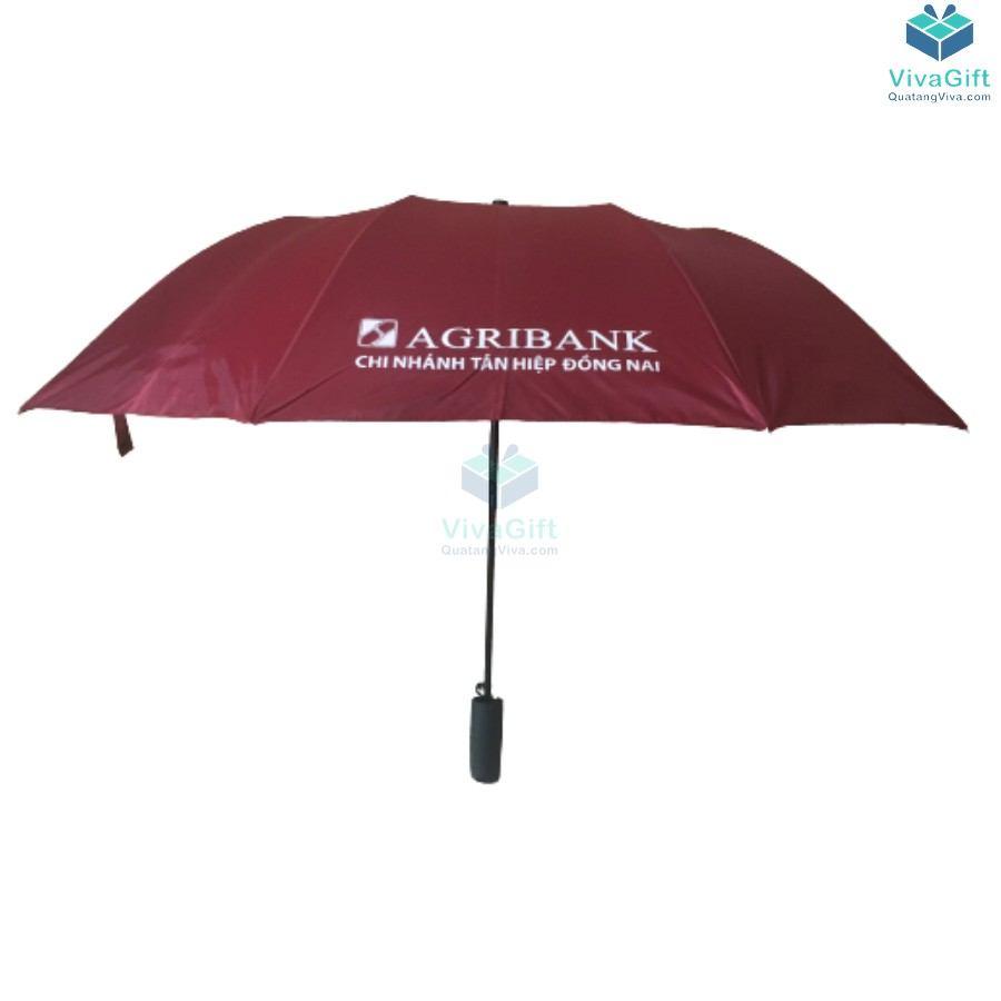 ô dù cầm tay gấp 2 tự động 1 chiều D019 in logo làm quà tặng