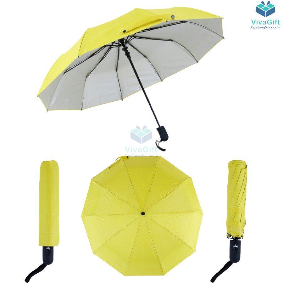 ô dù cầm tay gấp 3 tự động 1 chiều bán kính 55cm D022