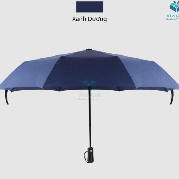 ô dù cầm tay gấp 3 tự động 2 chiều d012 in logo làm quà tặng