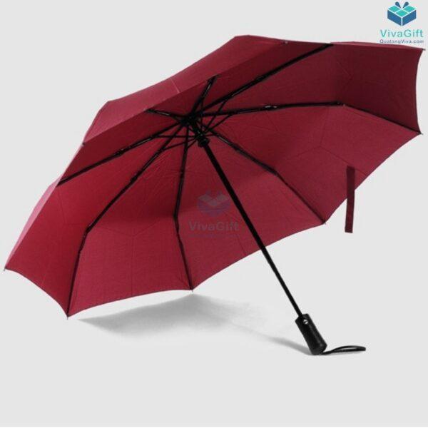 ô dù cầm tay xếp 3 tự động 2 chiều d012 in logo công ty