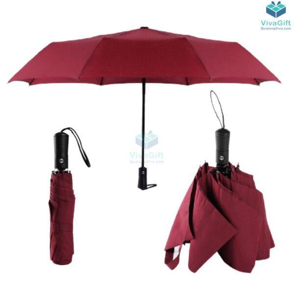ô dù cầm tay xếp 3 tự động 2 chiều d012 in logo quà tặng khách hàng