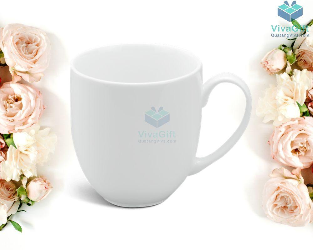 Ly sứ Minh Long 0.4 L - Camellia - Trắng 1