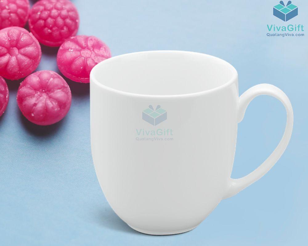 Ly sứ Minh Long 0.4 L - Camellia - Trắng 3
