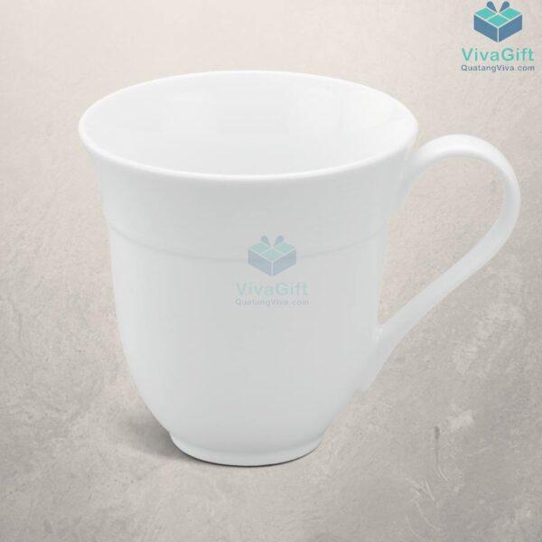 Ly Sứ Minh Long Sọc Loe - Camellia - Trắng - 0,4L 8