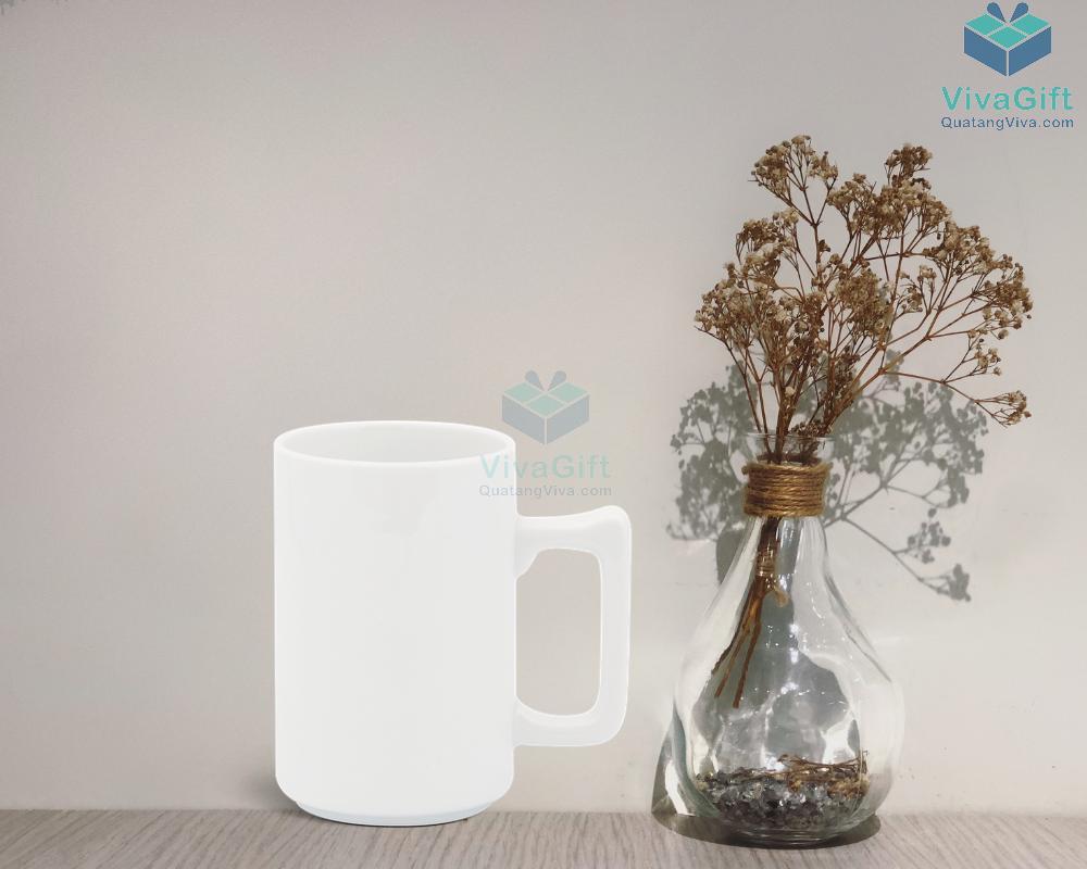 Ly sứ 0.52 L (quai tròn) - Jasmine - Trắng 1